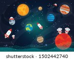 vector illustration of space....   Shutterstock .eps vector #1502442740