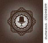 office chair icon inside badge... | Shutterstock .eps vector #1502448599