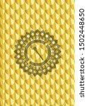 magic stick icon inside golden... | Shutterstock .eps vector #1502448650