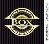 box gold emblem or badge.... | Shutterstock .eps vector #1502448740
