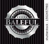 baleful silvery shiny badge.... | Shutterstock .eps vector #1502457983
