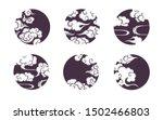 asian circle cloud set....   Shutterstock .eps vector #1502466803