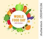 world food day vector...   Shutterstock .eps vector #1502491136