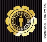 businessman icon inside golden... | Shutterstock .eps vector #1502495423