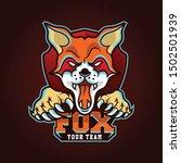 fox sport gaming logo vector... | Shutterstock .eps vector #1502501939