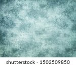 Old Turquoise Wall Covered Wit...