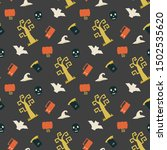 seamless vector pattern with... | Shutterstock .eps vector #1502535620