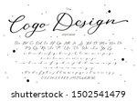 vector calligraphy font.... | Shutterstock .eps vector #1502541479