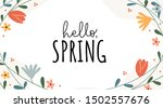 hello spring funny and... | Shutterstock .eps vector #1502557676