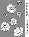 hand drawn chamomile daisy...   Shutterstock .eps vector #1502559029