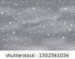 falling snow overlay background.... | Shutterstock .eps vector #1502561036