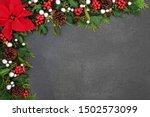Poinsettia Flower Background...