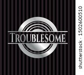 troublesome silvery badge.... | Shutterstock .eps vector #1502600510