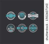 circle vintage and retro badge... | Shutterstock .eps vector #1502607143