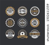 circle vintage and retro badge... | Shutterstock .eps vector #1502611559
