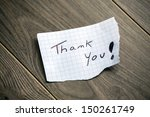 thank you   hand writing text... | Shutterstock . vector #150261749