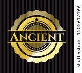 ancient shiny badge. vector... | Shutterstock .eps vector #1502617499