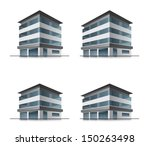 set of four hotel or office... | Shutterstock .eps vector #150263498