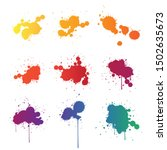 vector paint splats isolated on ... | Shutterstock .eps vector #1502635673