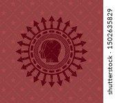 team work icon inside badge... | Shutterstock .eps vector #1502635829