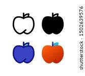 apple logo icon design in four...