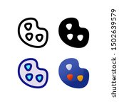 art logo icon design in four...