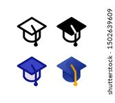 graduation logo icon design in...