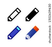 pencil logo icon design in four ...