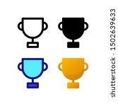 trophy logo icon design in four ...
