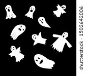 halloween ghosts. ghostly... | Shutterstock .eps vector #1502642006