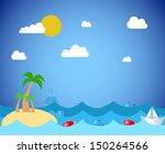 tropical island | Shutterstock .eps vector #150264566