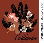 california. vector hand drawn... | Shutterstock .eps vector #1502649470