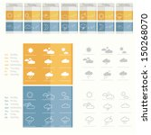 meteo icons   design | Shutterstock .eps vector #150268070