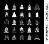 Abstract Christmas Tree Icons....