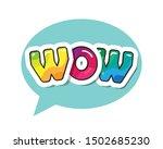 wow inscription. cartoon bold...   Shutterstock .eps vector #1502685230