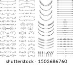 flourishes  text dividers and... | Shutterstock .eps vector #1502686760