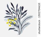 beautiful vector flower...   Shutterstock .eps vector #1502704610