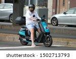 Man Ride Moped  Man Ride...