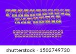handcrafted font. an alphabet... | Shutterstock .eps vector #1502749730