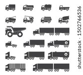 trucks icons set  vector... | Shutterstock .eps vector #1502766536