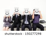 human resource concept  young... | Shutterstock . vector #150277298