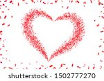 heart confetti isolated white... | Shutterstock .eps vector #1502777270