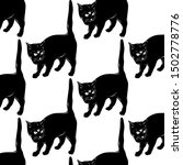 vector pattern with hand drawn... | Shutterstock .eps vector #1502778776