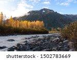 Resurrection River at Exit Glacier, Kenai Fjords National Park, Seward, Alaska, United States