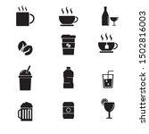 set of beverage related vector... | Shutterstock .eps vector #1502816003