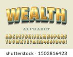 a bold condensed alphabet with... | Shutterstock .eps vector #1502816423