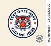 tiger retro vintage patch badge ... | Shutterstock .eps vector #1502823920