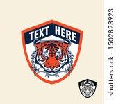 tiger retro vintage patch badge ... | Shutterstock .eps vector #1502823923