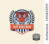 tiger retro vintage patch badge ... | Shutterstock .eps vector #1502823929