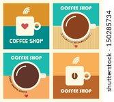 set of coffee shop vector...   Shutterstock .eps vector #150285734